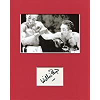 $40 » Willie Pep Boxing World Featherweight Champ HOF Signed Autograph Photo Display - Autographed Boxing Magazines