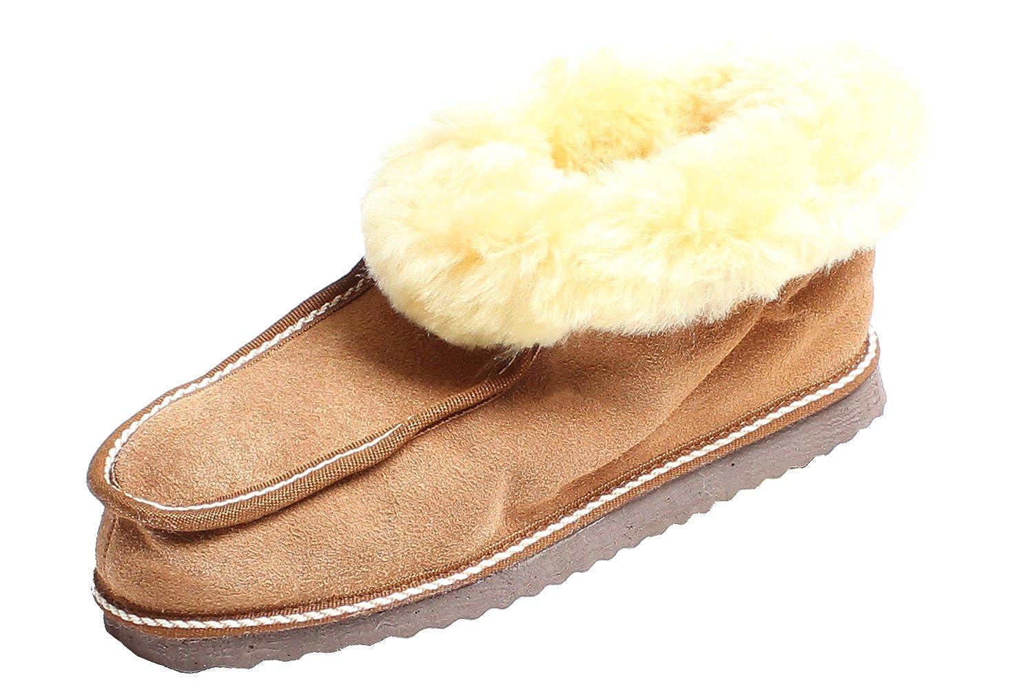 Brubaker Unisex calcetín de chalet, zapatos de piel de oveja, talla: Euro 35