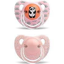 Suavinex 303873 - Pack de 2 chupetes 6-18 meses con tetina anatómica de silicona, color rosa