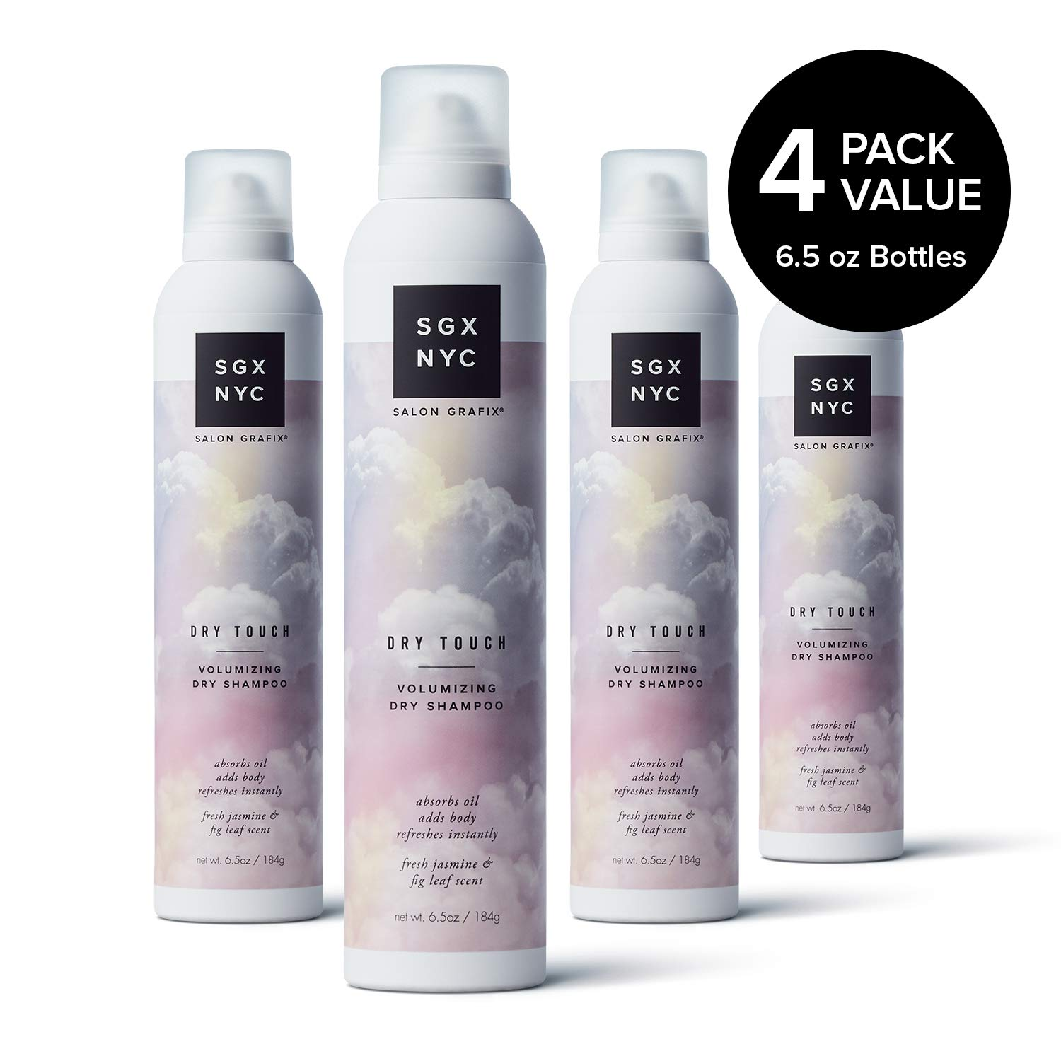 SGX NYC Dry Touch, Volumizing Dry Shampoo for Big Body (8.5 Ounce) (4 Pack) by SGX NYC