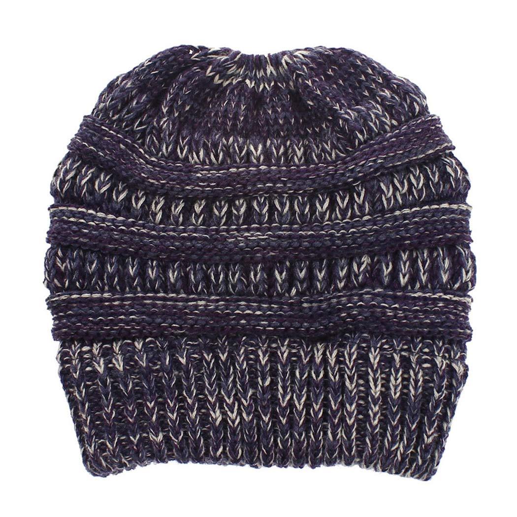 XWDA Men Women Soft Lined Thick Wool Knit Skull Cap Warm Winter Slouchy Beanies Hat 20173797