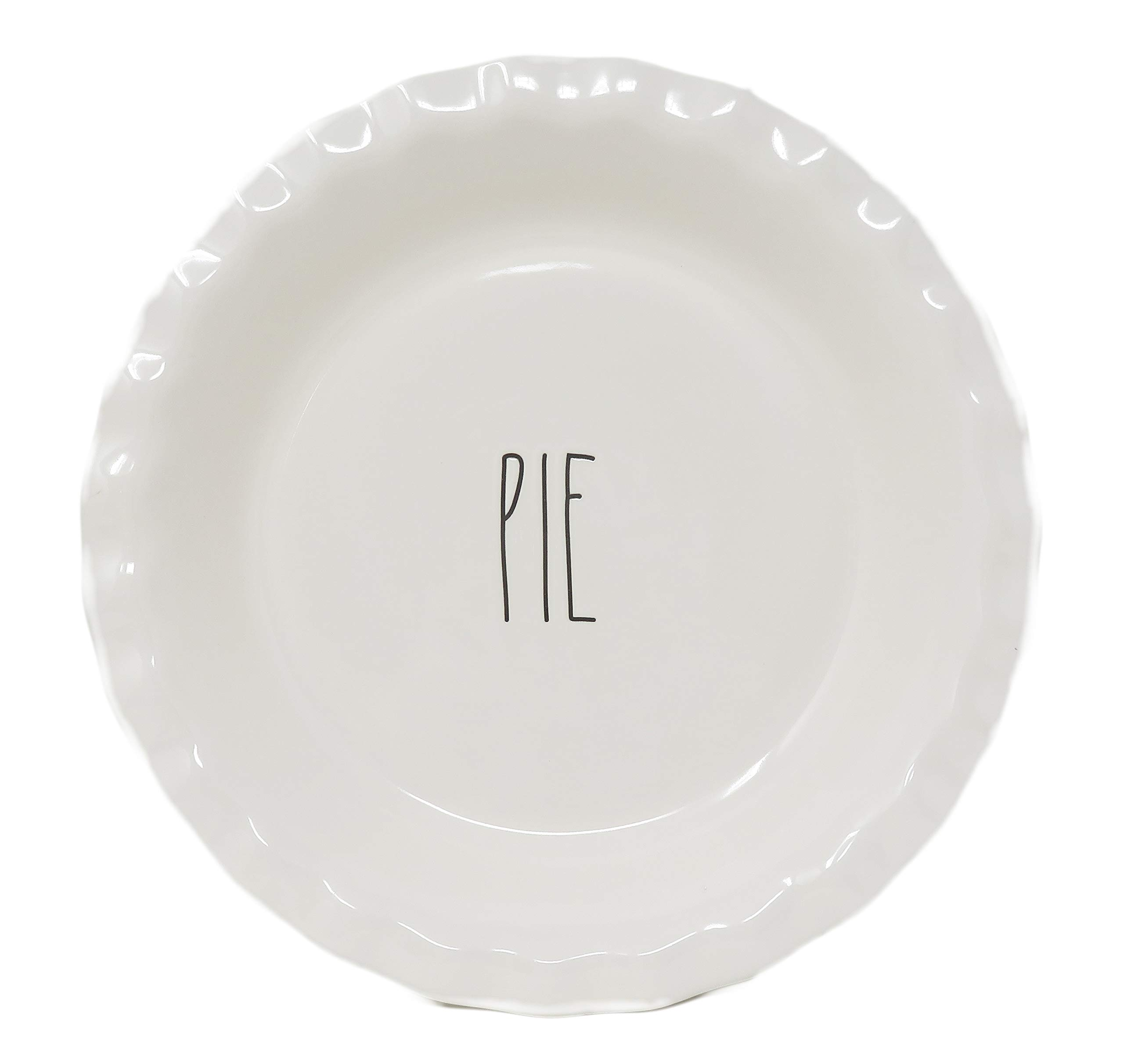 Rae Dunn By Magenta PIE Ceramic Large Letter LL Pie Pan Dish