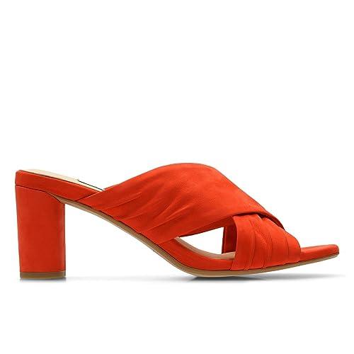 091772328fc Clarks Women s Amali Primrose Orange Nubuck Leather Fashion Sandals-3.5  UK India (36