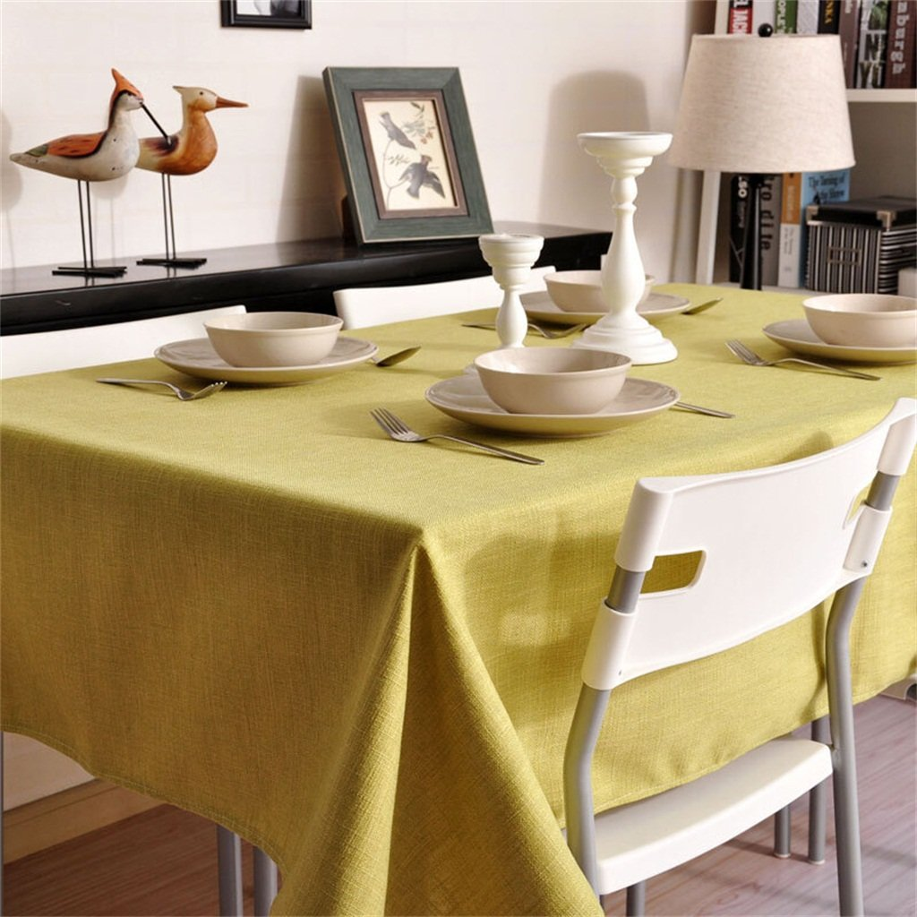 新 テーブルクロス厚いソフトソリッドカラーホームコーヒーテーブルマットコーヒーテーブルマット (色 : 緑, サイズ さいず : W140*L250CM) W140*L250CM 緑 B07R28T9CF