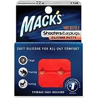 Protetor Auricular Mack's Shooters Moldável 22db 3 Pares