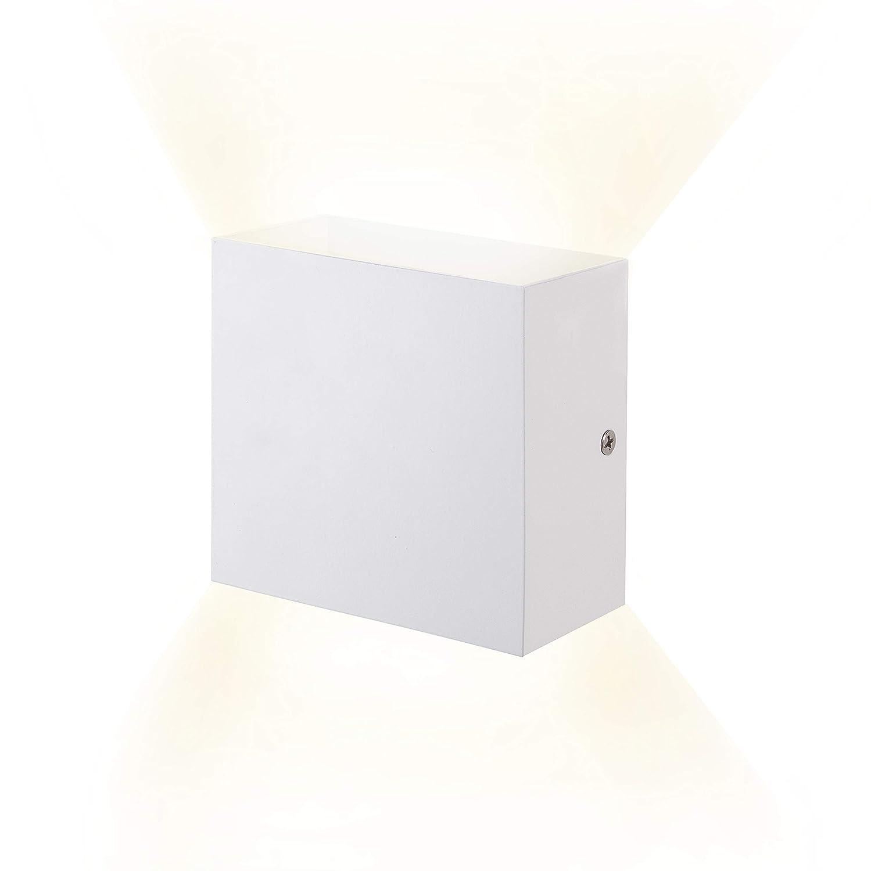 6W LED Wandleuchten Aluminium Waterproof Wall Lamp Innen Badezimmer 85-265 V 3000K Indoor für Wohnzimmer, Schlafzimmer, Bad, Flur, Balkon, Treppen, Pfad, Terrasse (Warmweiß) Kreative minimalistische [Energieklasse A++] XIARU