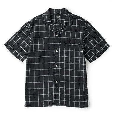 Laight Street Linen Shirt: Black Check