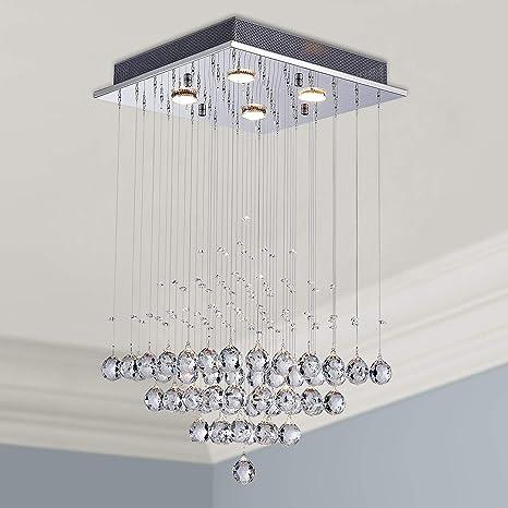 Lámpara de araña de cristal moderna Iluminación de montaje empotrada Lámpara de techo para lámpara de