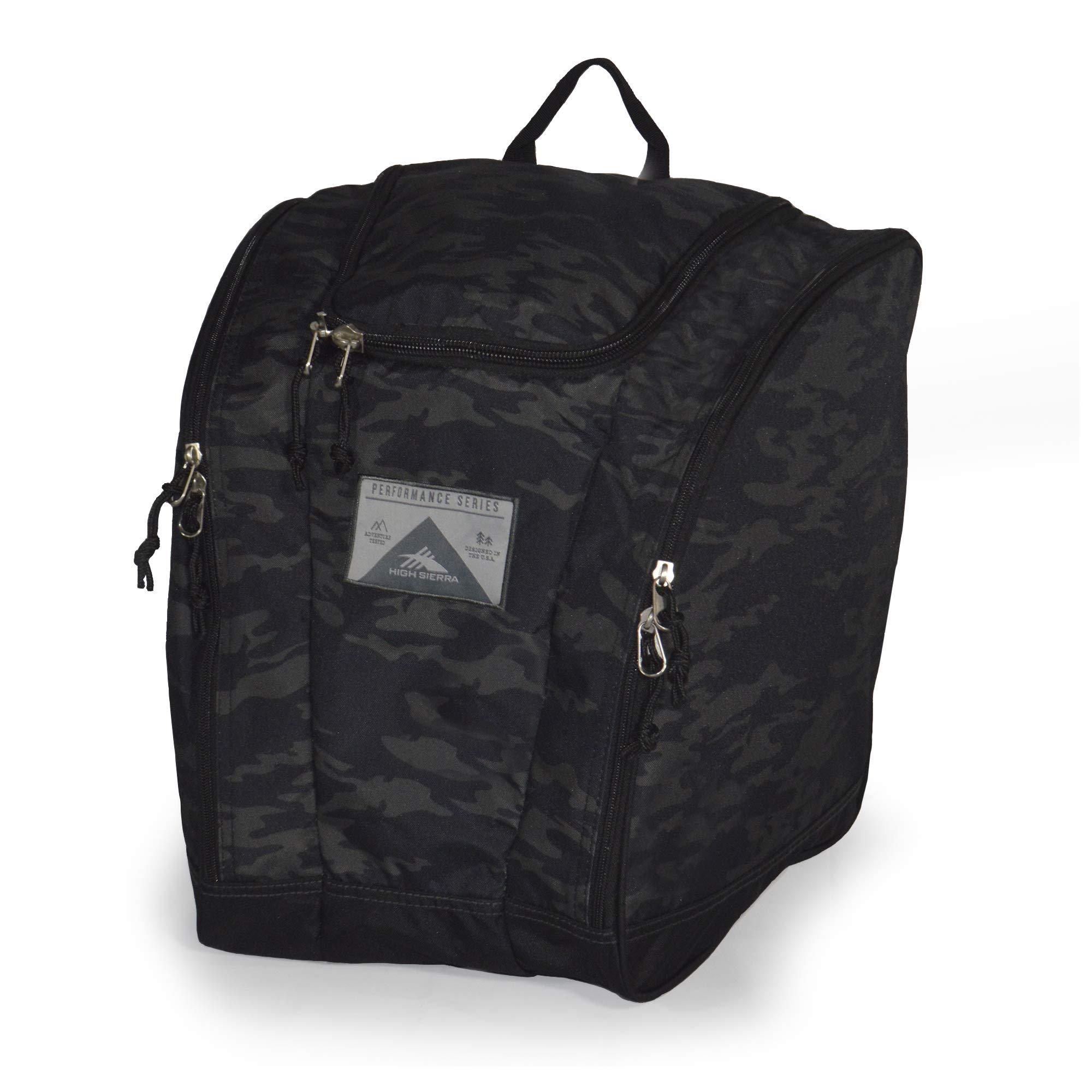 High Sierra Ski Boot Trapezoid Boot Bag, Stealth/Black