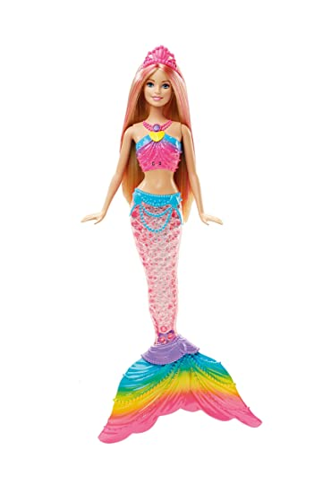 Amazoncom Barbie Dreamtopia Rainbow Lights Mermaid Doll Blonde