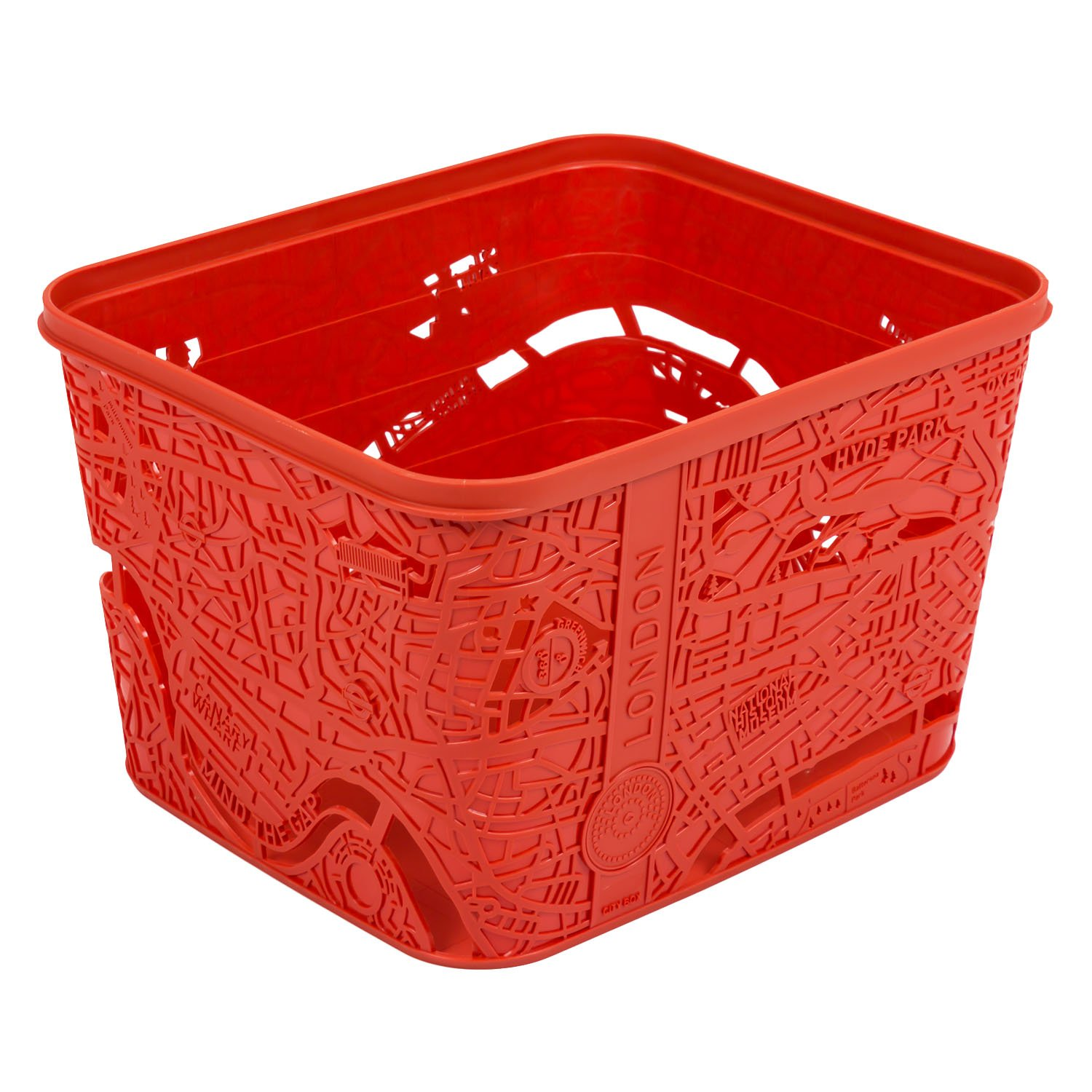 Curver 221858 City Map Box Size L Polypropylene London red 221857