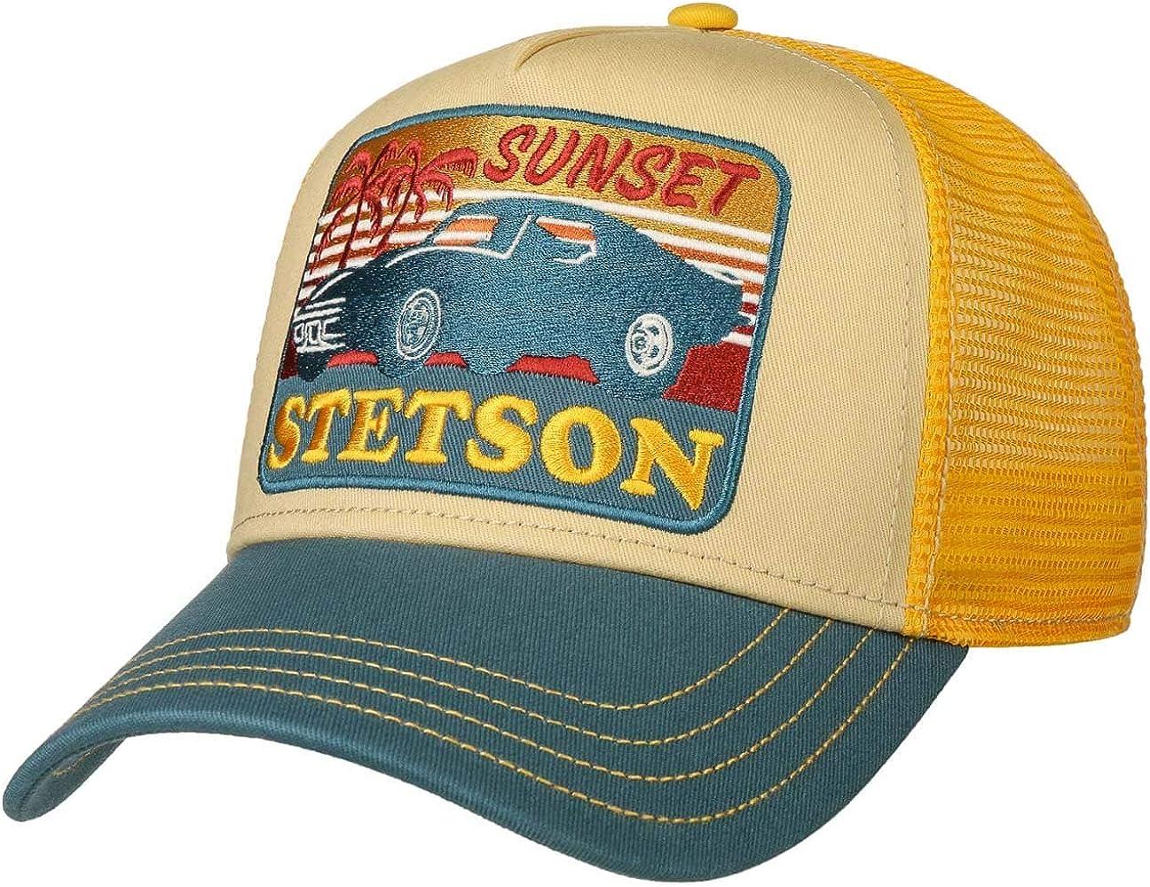 Stetson Gorra American Heritage Trucker Hombre - de Malla Beisbol Snapback Cap Snapback, con Visera Verano/Invierno