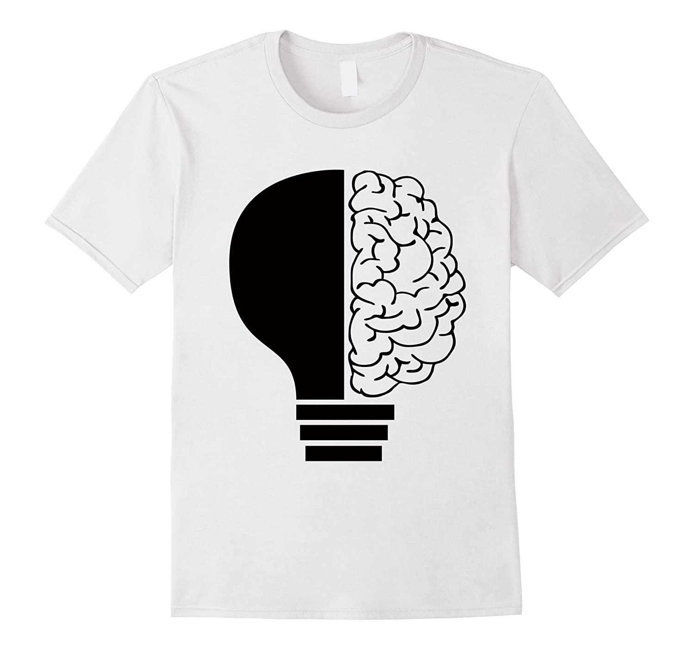 Black light t shirt ideas -  Light Bulb Brain T Shirt Ideas Inventions Psychology Tee Th