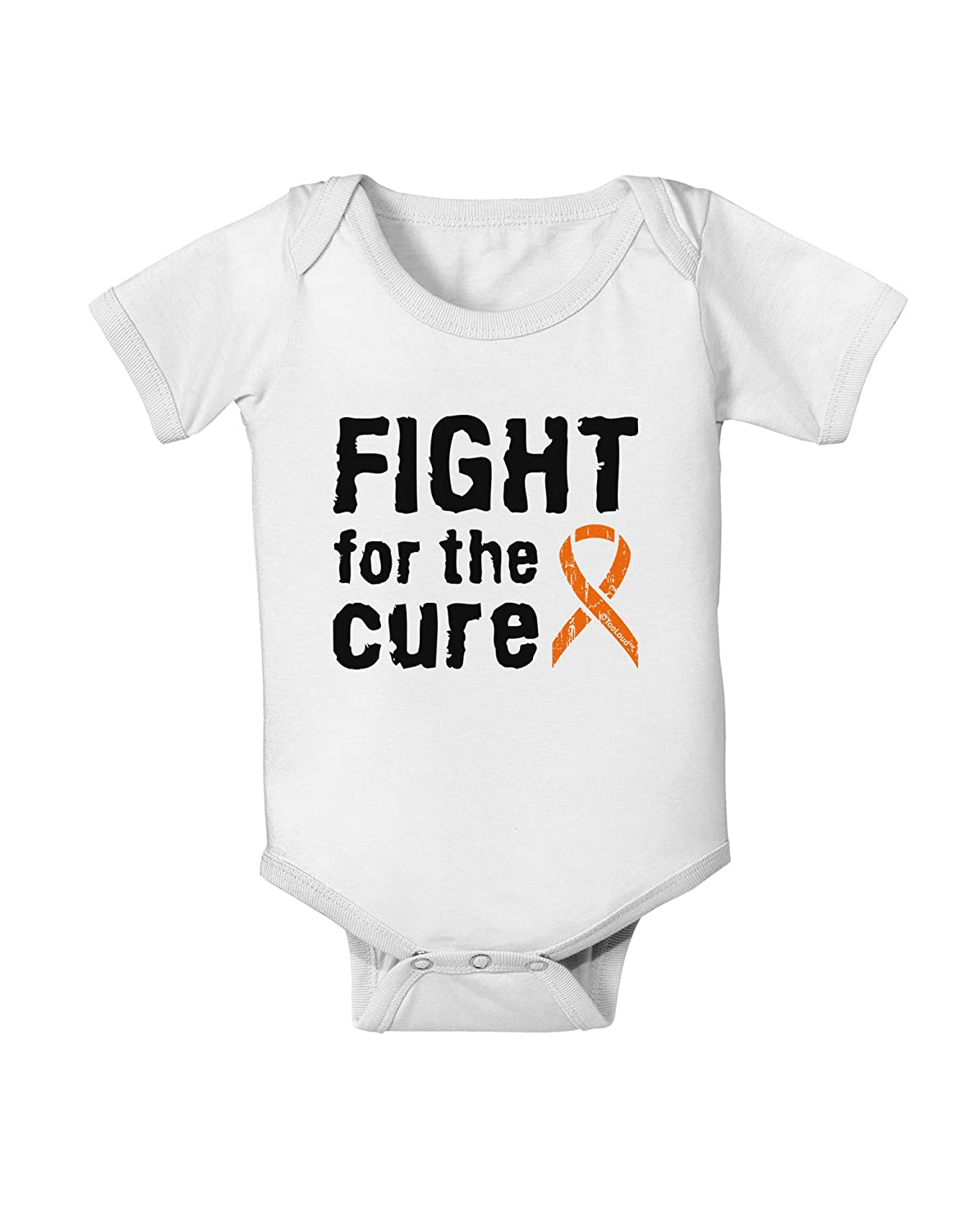 Orange Ribbon Leukemia Baby Romper Bodysuit TooLoud Fight for The Cure