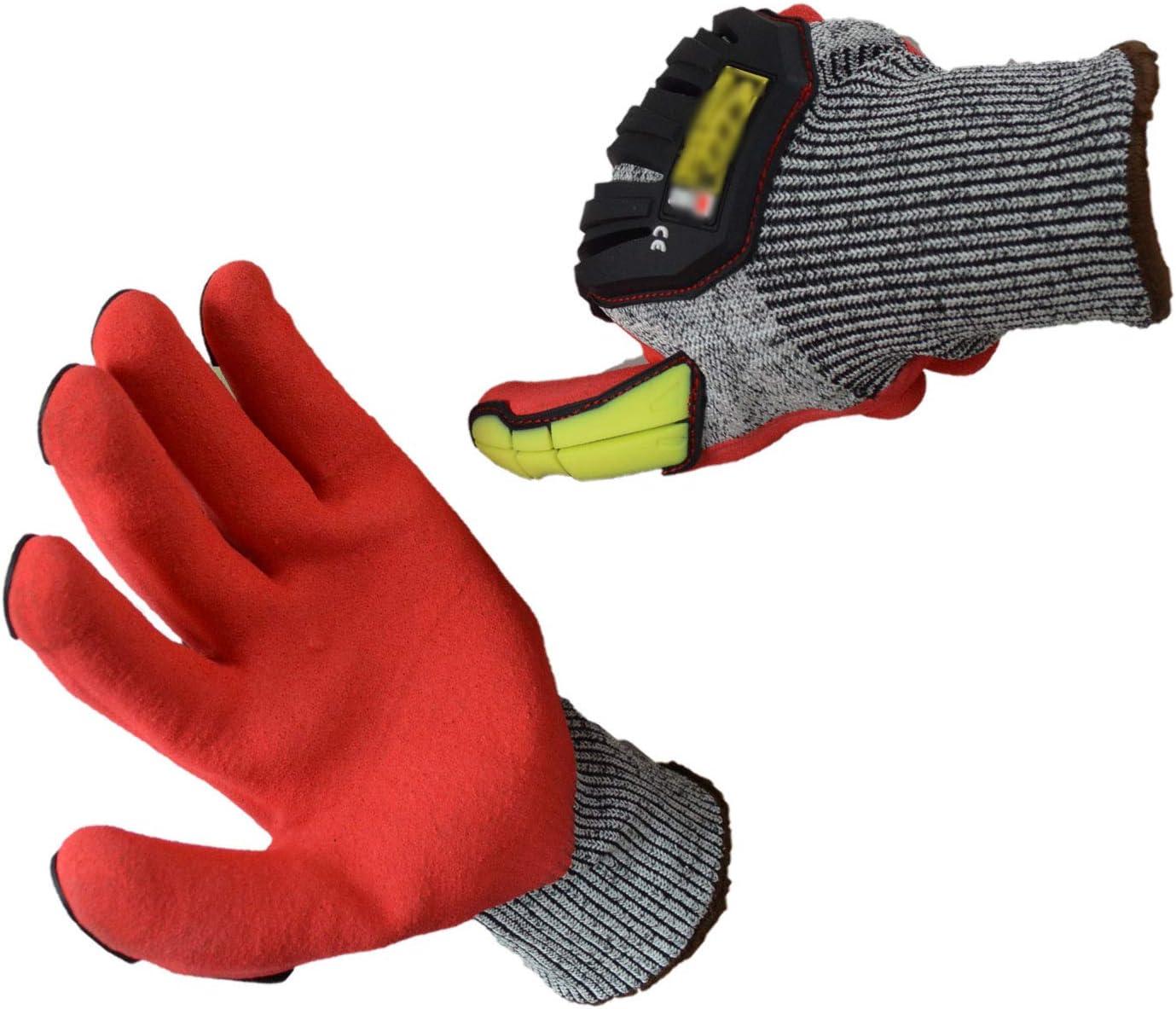 H/&Y Schnittfeste Handschuhe Farbe Anti-Vibration Schlagfeste Verschlei/ßfeste Mechanische Arbeitshandschuhe Professioneller Schutz und Haltbarkeit EN388 Level 5 Schutz