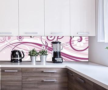 Cocina Pared Trasera Annabelle Flores Florales Design M0063 180 x 50 cm (W x H) - 3 mm de Espuma ...