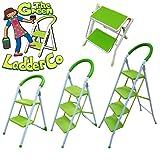 "ViVo © ""The Green Ladder Company"" 2 Tread Kitchen Home Folding Easy Storage Ladder"