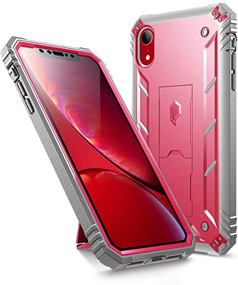 buy popular 1eabd 42a20 iPhone XR Rugged Case, Poetic Revolution [360 Degree  Protection][Kick-Stand] Full-Body Rugged Heavy Duty Case with  [Built-in-Screen Protector] for ...