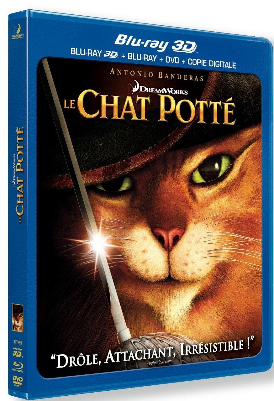 PARAMOUNT Le Chat Potté [Blu-Ray 3D + Blu-Ray + DVD + Copie digitale]
