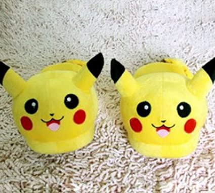 Amazon.com  Pikachu Cotton Pp Slipper for Men and Women Yellow 5af25df748