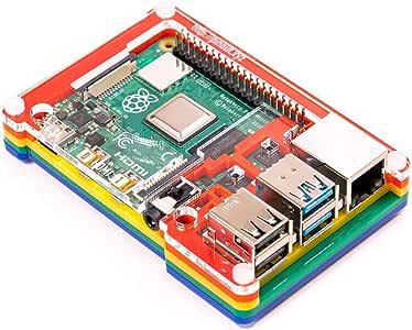 Pibow Coupé 4 (Raspberry Pi 4 only) Rainbow