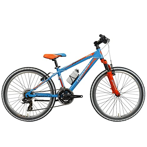 "'Torpado vélo VTT Junior Jaguaro 24""3x 7V Bleu Orange (enfant)/Bicycle VTT Junior Jaguaro 243x 7S Light Blue Orange (Kid)"