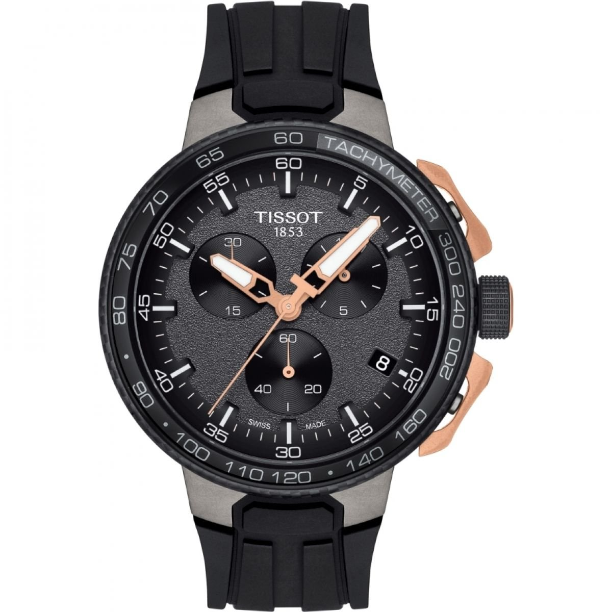 b877518d5f4 Amazon.com  Tissot T-Race Cycling Black Rose Gold T111.417.37.441.07   Watches