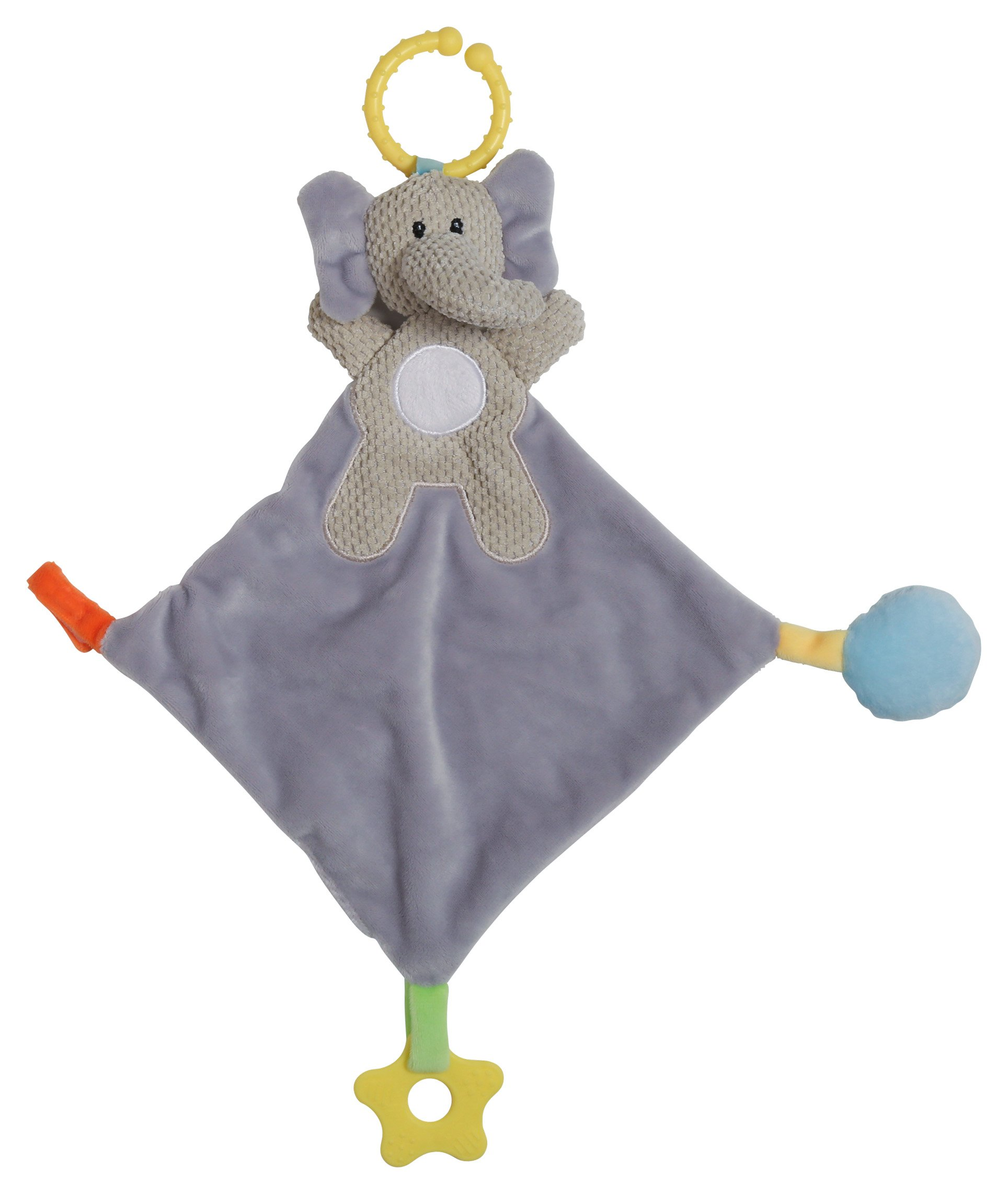 Cudlie! Elephant Head Activity Lovie Security Blanket, Gray by Cudlie