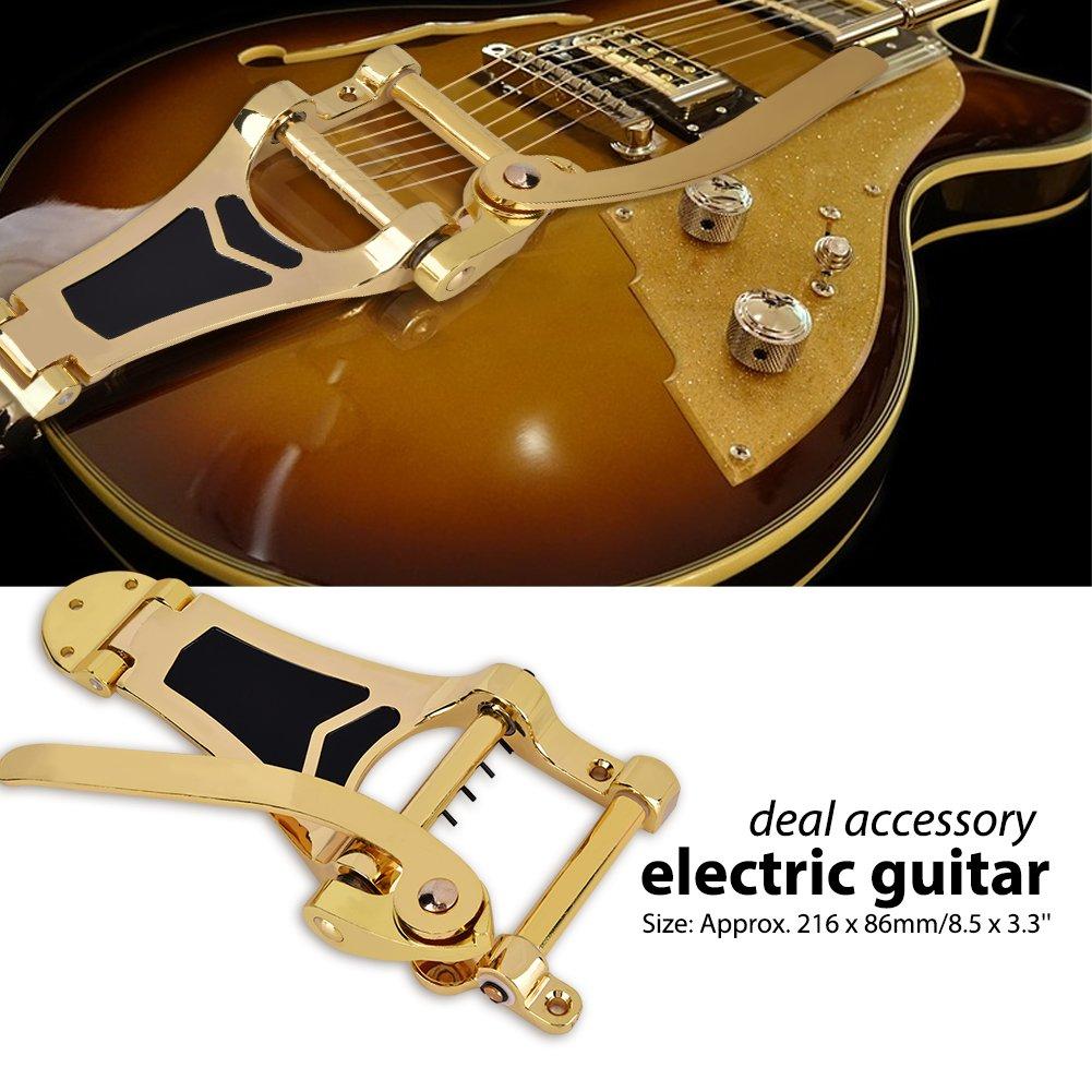 Trémolo puente cordal, hueca cuerpo Archtop para guitarra eléctrica Bass, dorado: Amazon.es: Instrumentos musicales