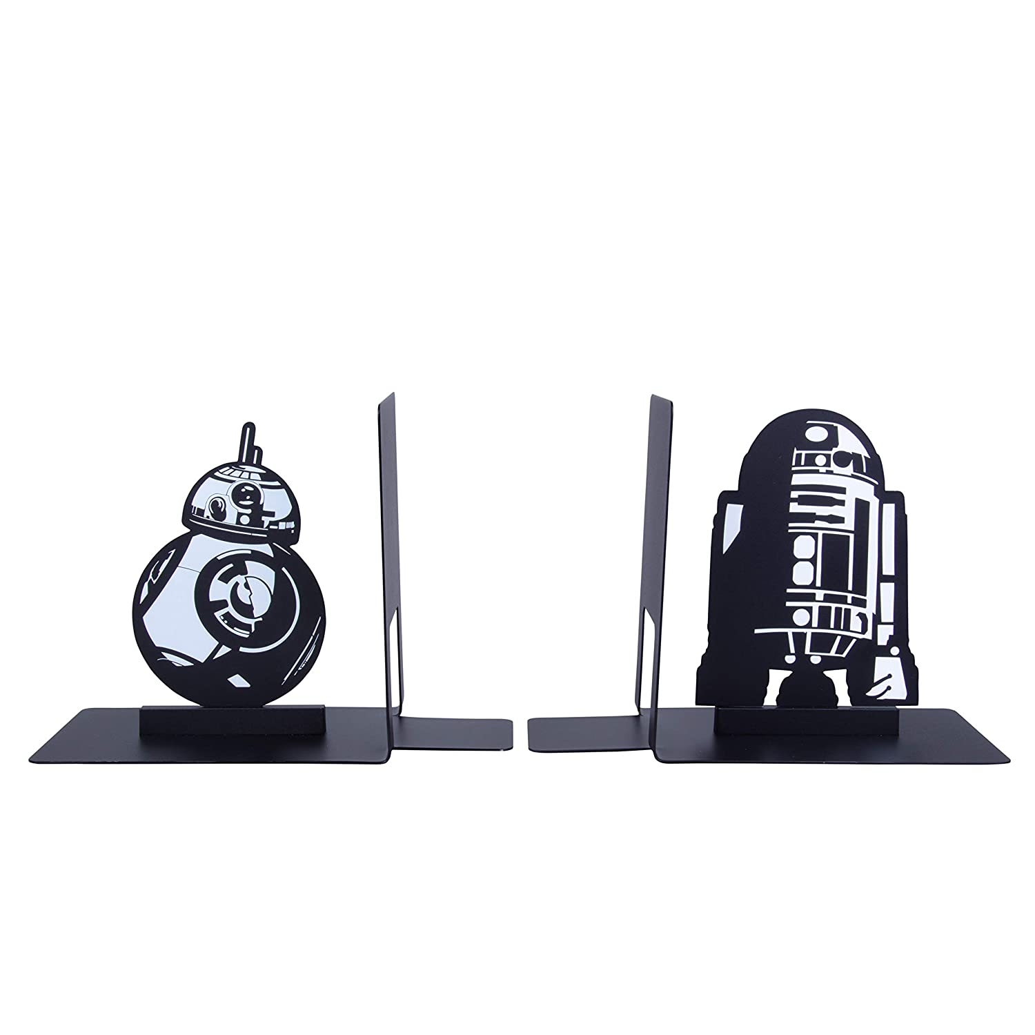 Decorative Metal R2-D2 and BB-8 Designs Seven20 Star Wars Droid Bookends
