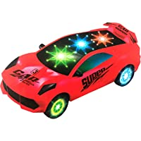 FunBlast 3 D Racing Car Toy - Bump & Go 360 Degree Rotating Car Toy   Car Vehicle Toy for Boys Girls. (Red)