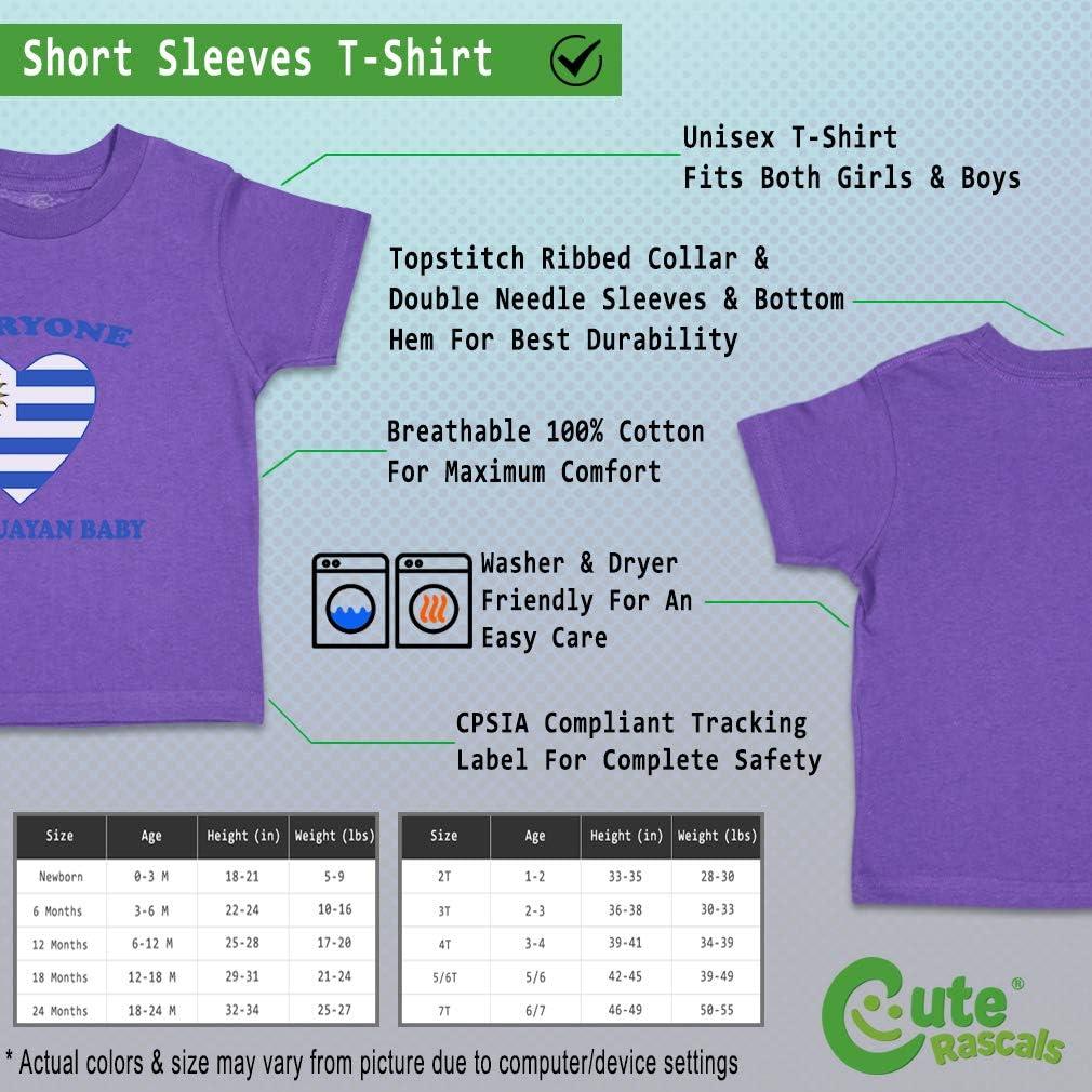 Custom Baby /& Toddler T-Shirt Everyone Loves Uruguayan Cotton Boy Girl Clothes