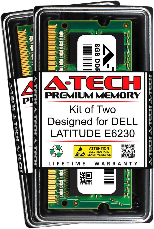 A-Tech 16GB (2 x 8GB) RAM for DELL Latitude E6230 | DDR3 1600MHz SODIMM PC3-12800 204-Pin Non-ECC Memory Upgrade Kit