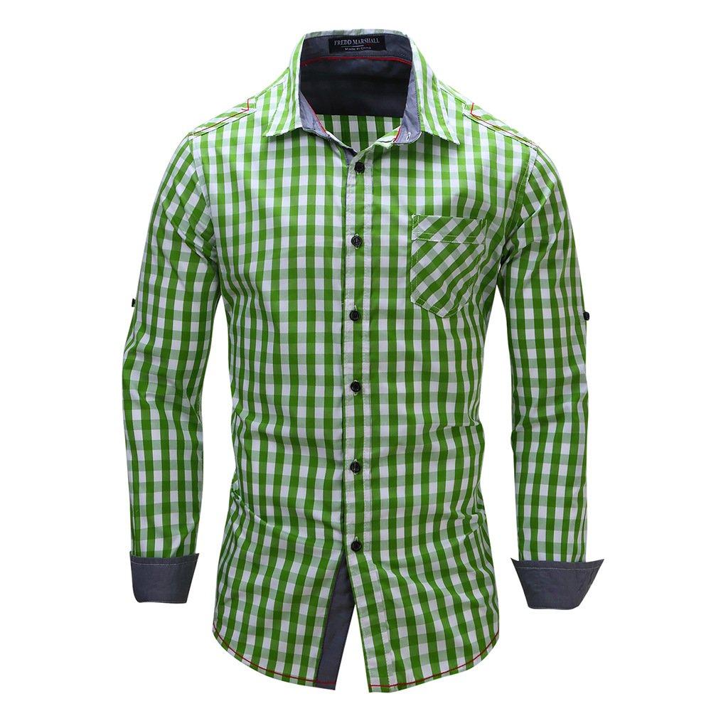 FREDD MARSHALL Men's Regular Fit Long Sleeve Cotton Dress Shirts