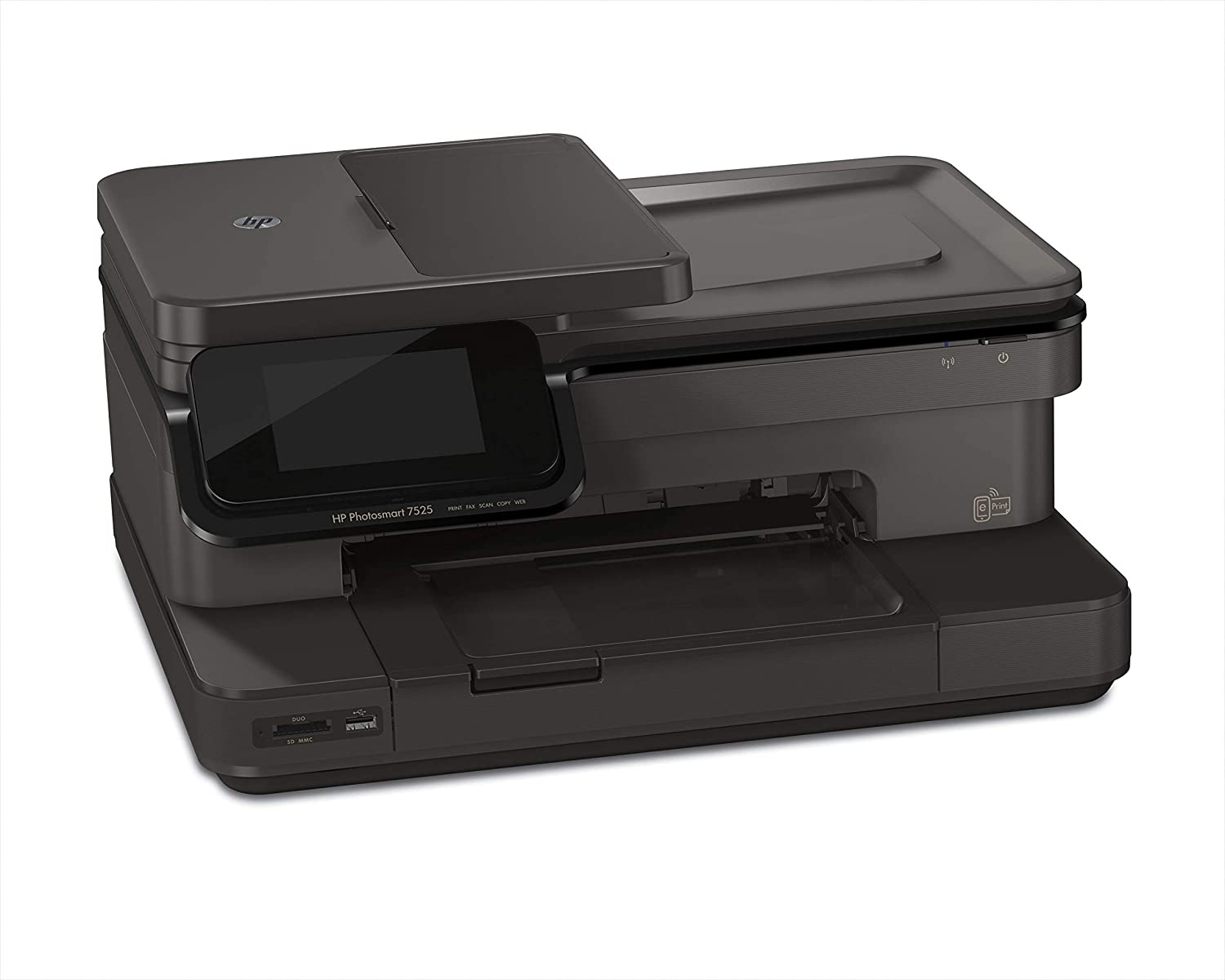 "Amazon.com: HP Photosmart 7525 e-All-in-One Inkjet Printer: 4.3"" Touch  Screen , Wireless, Duplex Print, Copy, Scan, Fax: Electronics"