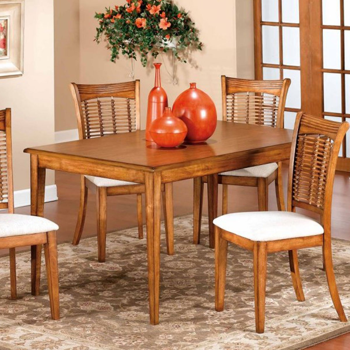 Bayberry dark cherry 44 inch round table with chairs - Bayberry Dark Cherry 44 Inch Round Table With Chairs 7