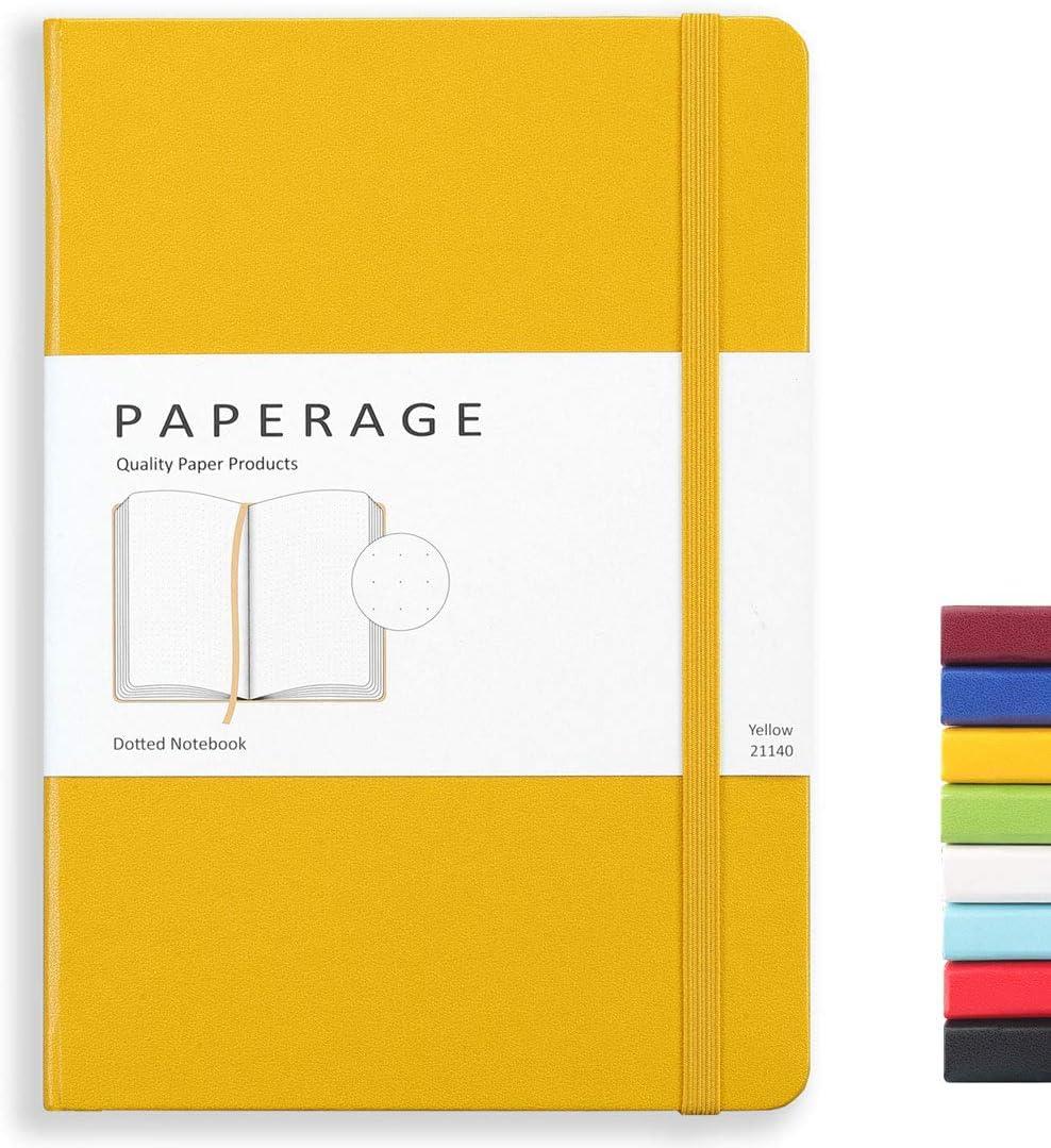 Cuaderno de notas (5.5 x 7.9 in), color amarillo
