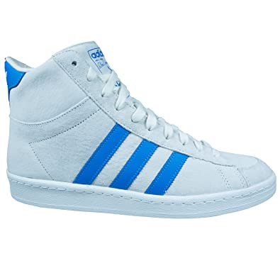 202f9feeb87871 adidas Originals Jabbar Mid Mens Suede High Top Trainers - Off White - 8.5UK