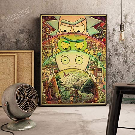 zxddzl Vintage Poster Cartoon Retro Poster HD Home Decor ...