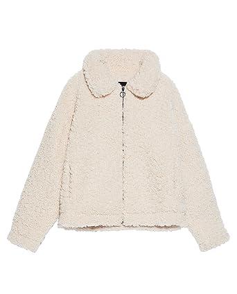 Zara 8073/241/712 - Chaqueta Corta para Mujer (imitación de Piel ...