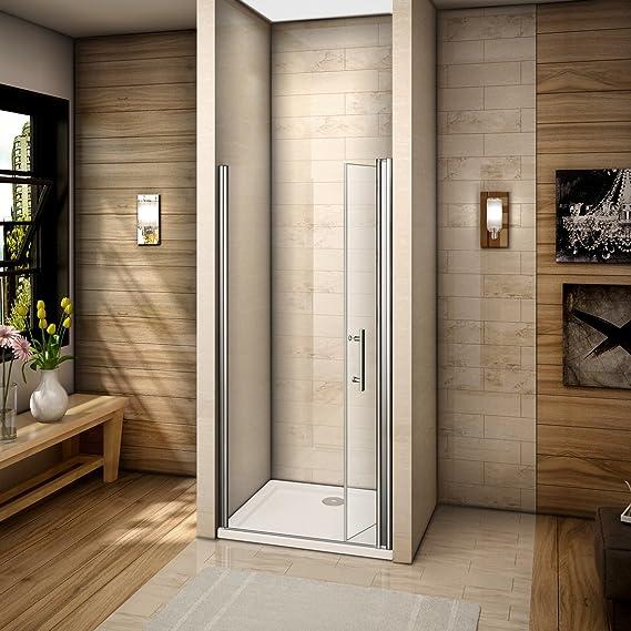 76x185cm Mamparas de ducha Pantalla baño plegable puerta de ducha ...