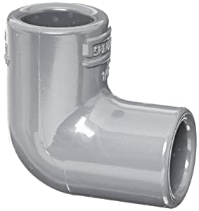 """Spears 806 Series PVC Pipe Fitting, 90 Degree Elbow, Schedule 80, 1/4"""" Socket"""