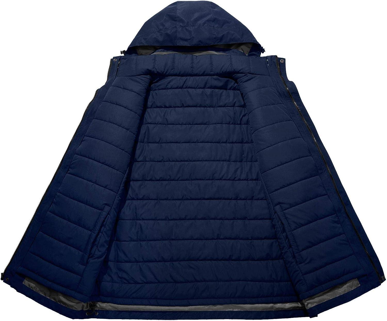 Wantdo Mens 3-in-1 Ski Jacket Interchange Snow Coat Waterproof Removable Liner