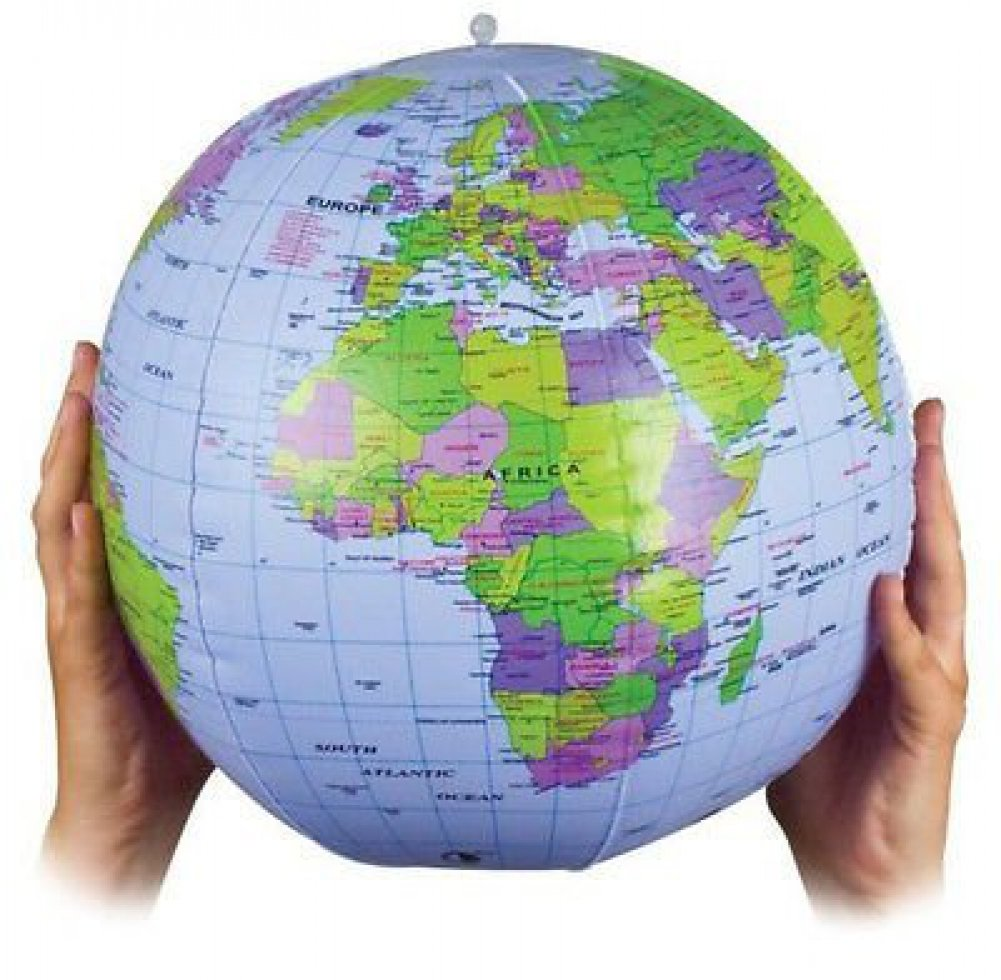 Inflatable globe blow up globe world map atlas ball earth map blow inflatable blow up world globe atlas world map earth educational gumiabroncs Images