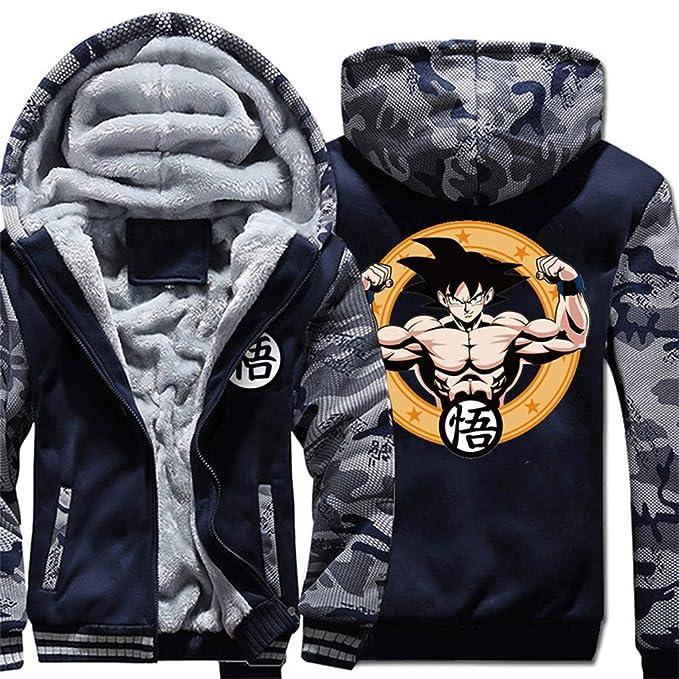 b7a71ab3ad2 Cosstars Dragon Ball Son Goku Anime Sudadera con Capucha Sweatshirts Unisex  Cosplay Disfraz Invierno Espesar Suéter Chaqueta 7 L: Amazon.es: Ropa y ...