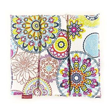 Saco Térmico de Semillas aroma Lavanda, Azahar o Romero tejido Flores Multicolor (Lavanda, 26x28x2cm)