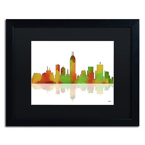 amazon com indianapolis indiana skyline by marlene watson black