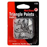 Deals on Red Devil 1722 Glazing Triangle Points ZINC Coated