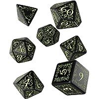 Q Workshop Elvish Dice - Juego de Mesa (Brilla en la Oscuridad), Color Negro