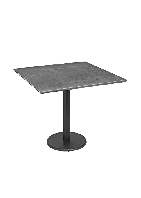 Amazon.com: Sarreid 40280 Bistro Table with Dark Lead Stone ...